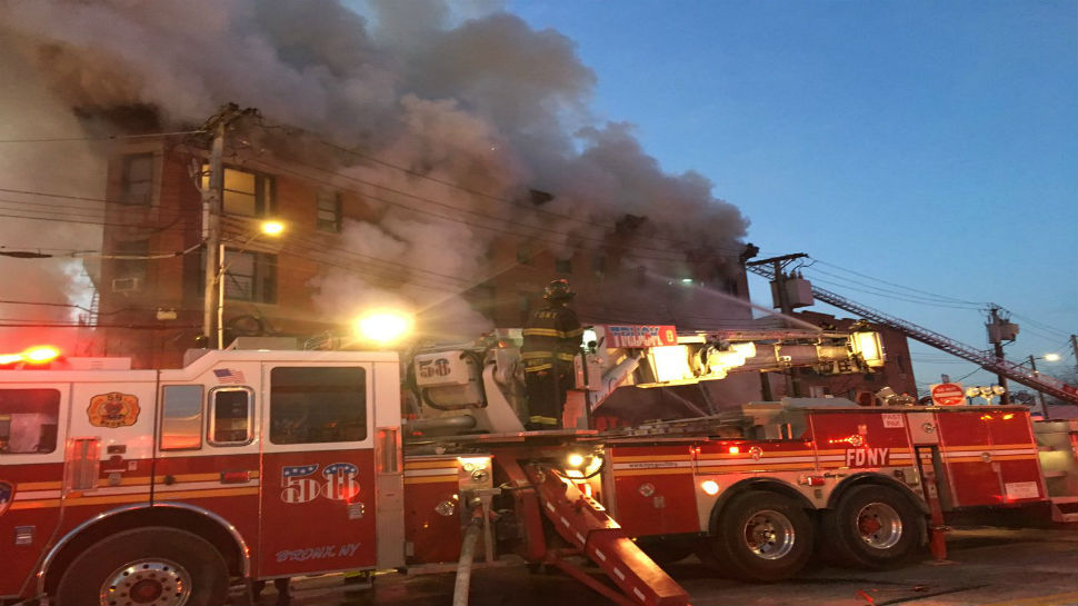 Massive fire engulfs Bronx building in New York