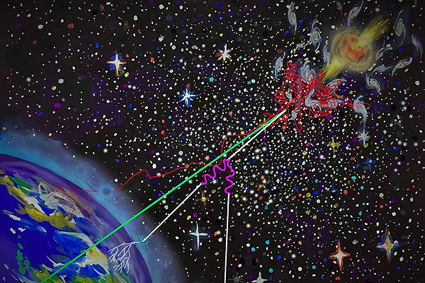 3 types of extreme-energy space particles may have unified origin