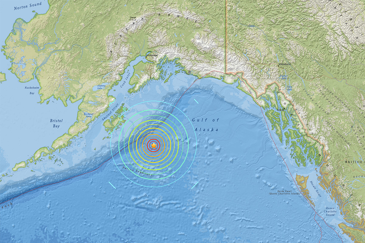 Tsunami warning for US west coast after magnitude-7.9 earthquake