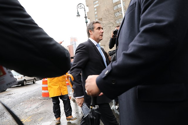 President Donald Trump's long-time personal attorney Michael Cohen arrives at a New York court on April 16, 2018 in New York City. Trump's lawyers on Sunday night asked a federal judge to temporarily block prosecutors from reviewing files seized by the FBI from Cohen's offices and hotel room last week. Trump's lawyers have argued that many of the documents are protected by attorney-client privilege. (Photo: Spencer Platt/Getty Images)