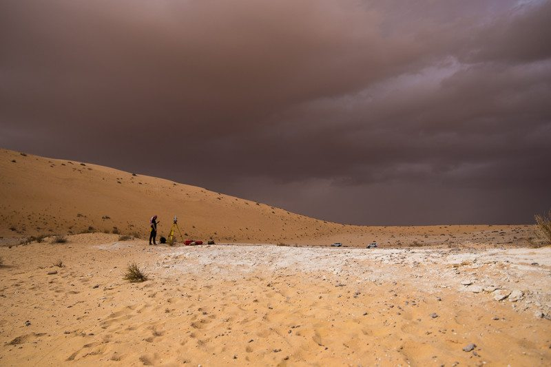 The Al Wusta site in Saudi Arabia where the finger bone was found