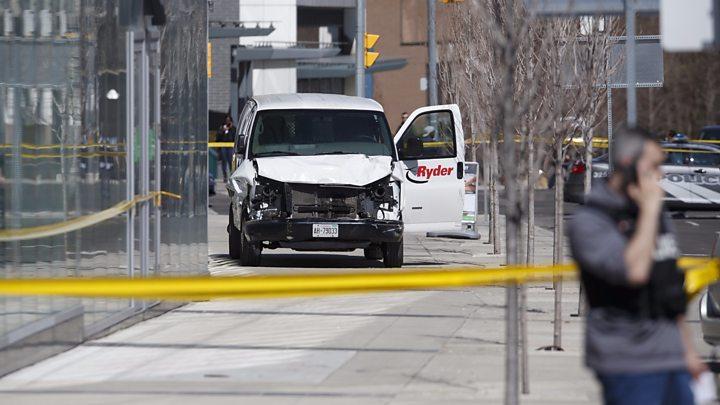 Toronto van attack: Suspect quizzed after 10 pedestrians killed