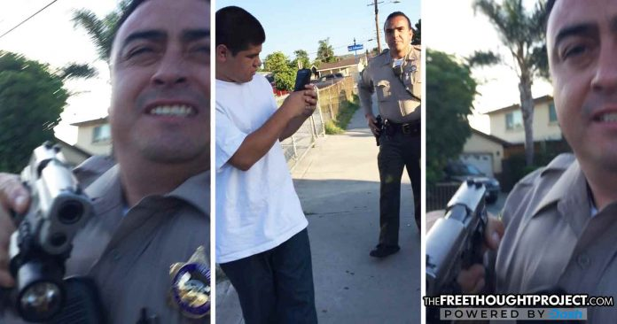 EXCLUSIVE: Video Shows Cops Hold Innocent Unarmed Young Men at Gunpoint to Find Out Who They Are