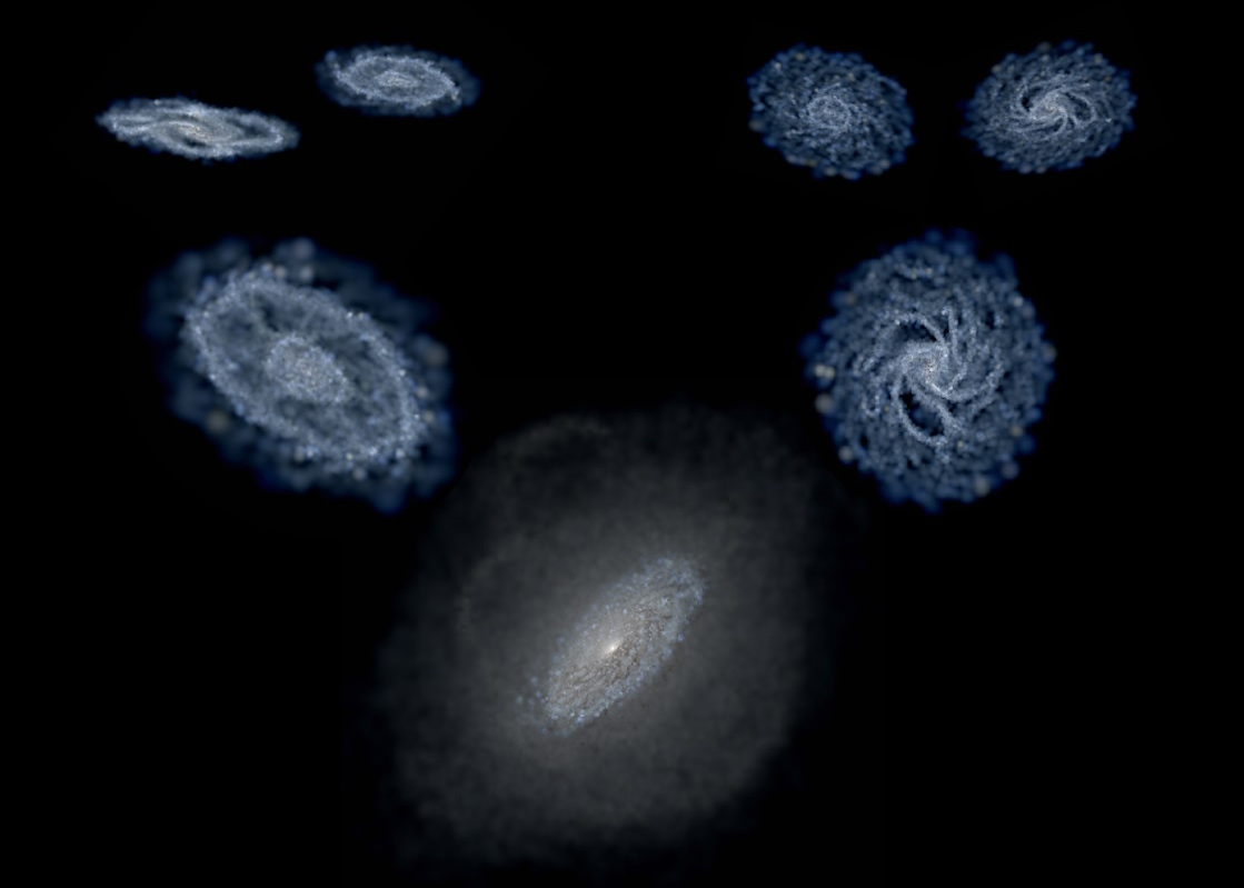 "A hierarchical picture of galaxy formation through ""galaxy cannibalism."""