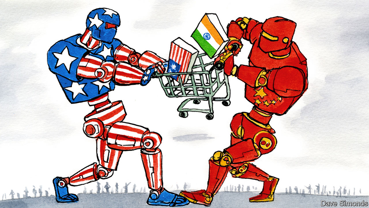 Chinese and US tech giants go at it in emerging markets