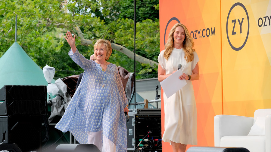 Disheveled 'grandma Hillary' mocked for Simpsons-style dress choice