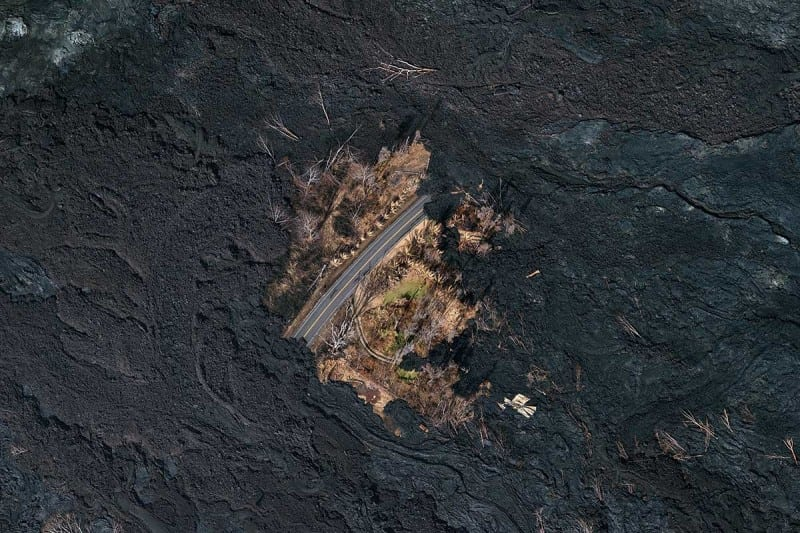 The tiny oasis spared wrath of Hawaii's volcano