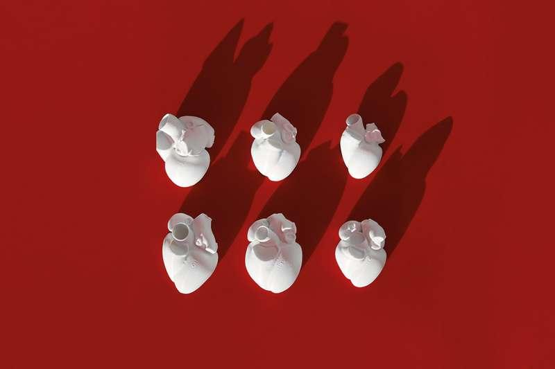 3D printed hearts
