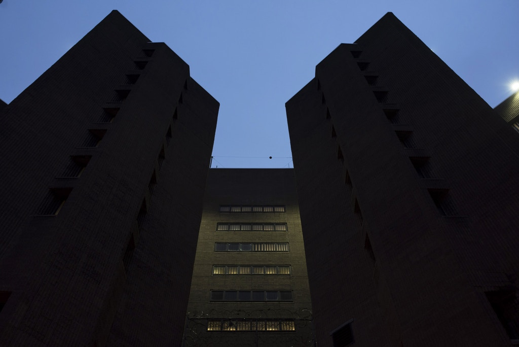 FILE-- The high-security federal jail known as the Metropolitan Correctional Center, near Foley Square in New York, Jan. 21, 2017. The facility has housed some of New York's highest-risk federal defendants. Joaquin Guzman Loera, the Mexican drug kingpin known as El Chapo, has resided there since January. The drug lord and serial prison escapee has been protesting issues at the jail including the tap water, visitor restrictions and the television programming in the rec room. (Karsten Moran/The New York Times)