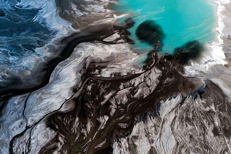satellite ocean scene