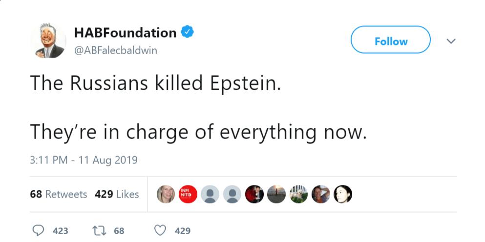 Alec Baldwin Russians Epstein