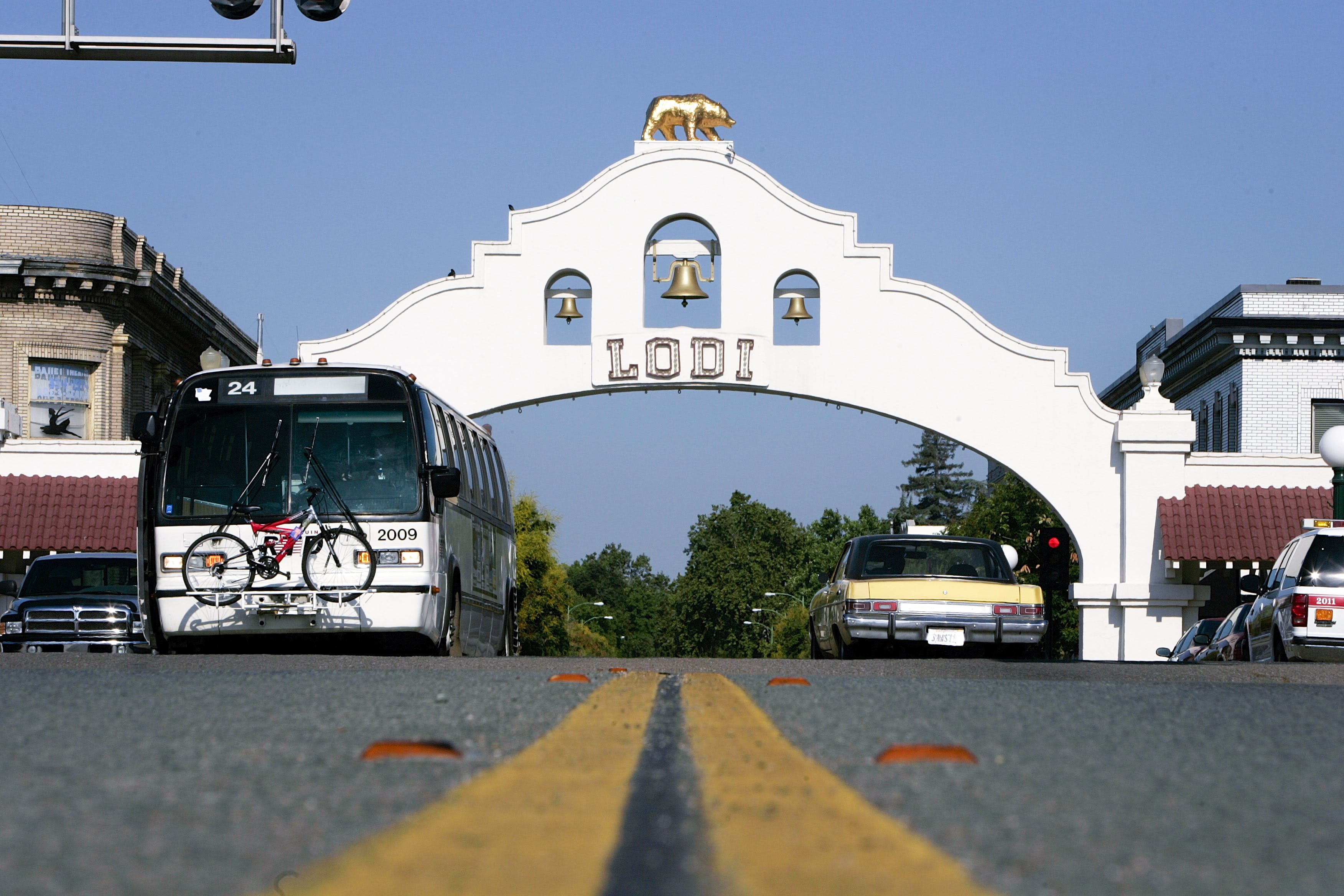 LODI, CA - JUNE 10:  Main Street as seen on June 10, 2005 in Lodi, California. Lodi, the sleepy Northern California town has been hit with controversy after 5 people were arrested by the FBI in connection with immigration and possible terrorist activities.   (Photo by David Paul Morris/Getty Images)