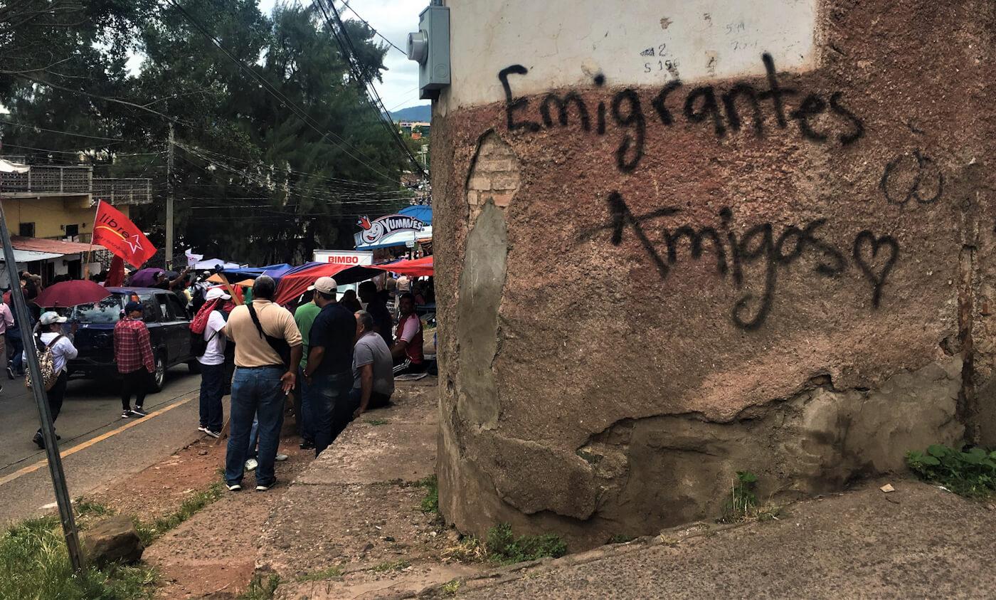 Honduras Protest graffiti