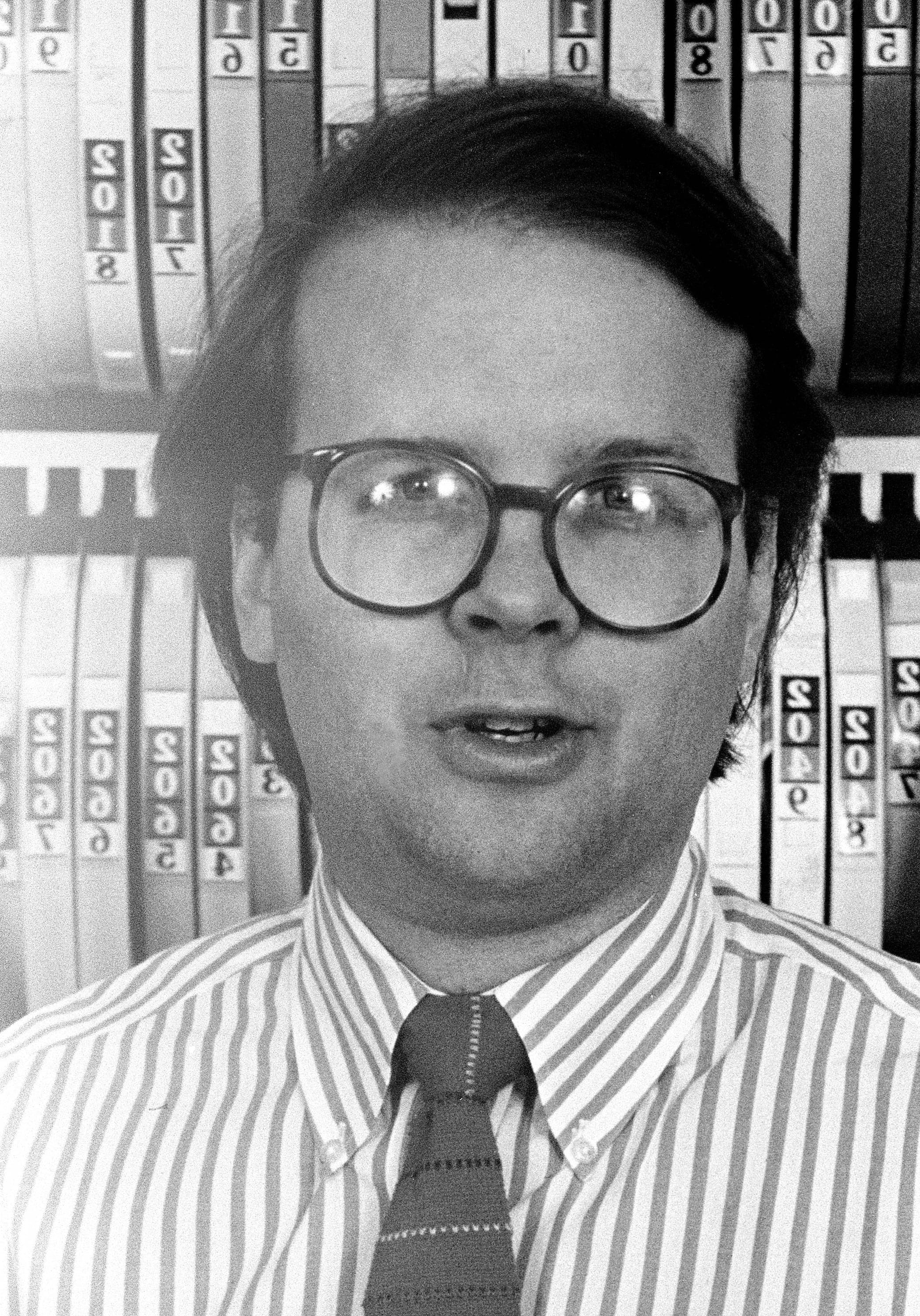Karl Rove, campaign strategist, is pictured in 1985. (AP Photo/Bob Daemmerich)