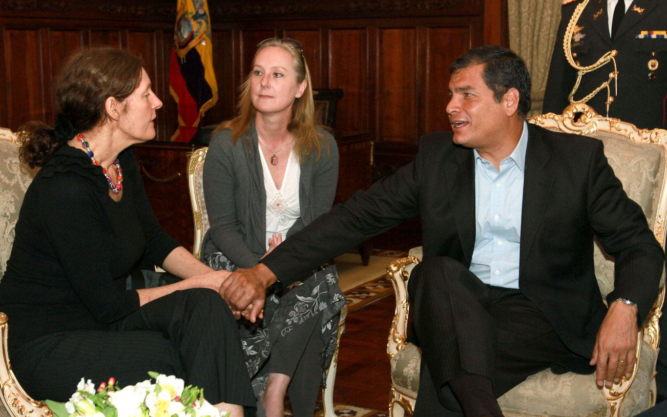 Rafael Correa, Christine Assange