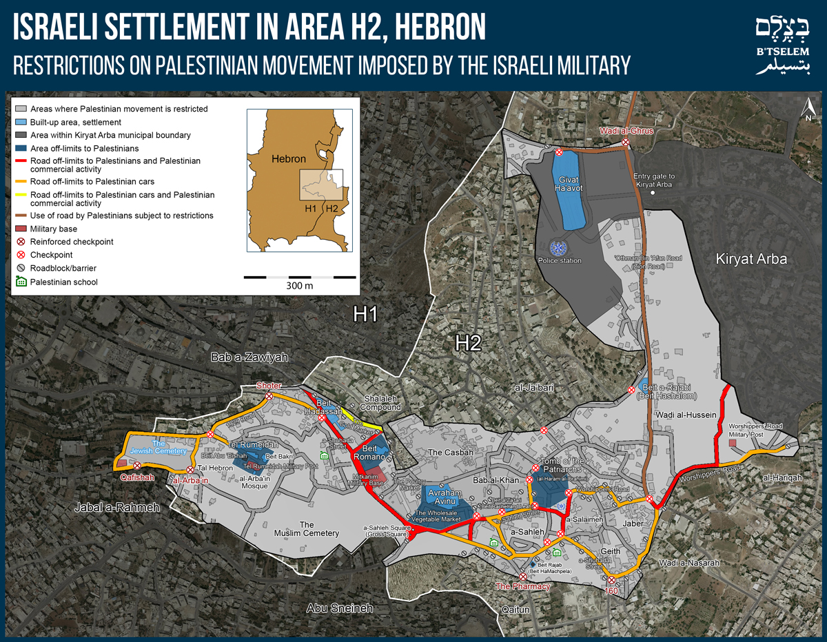 Hebron Settler Map