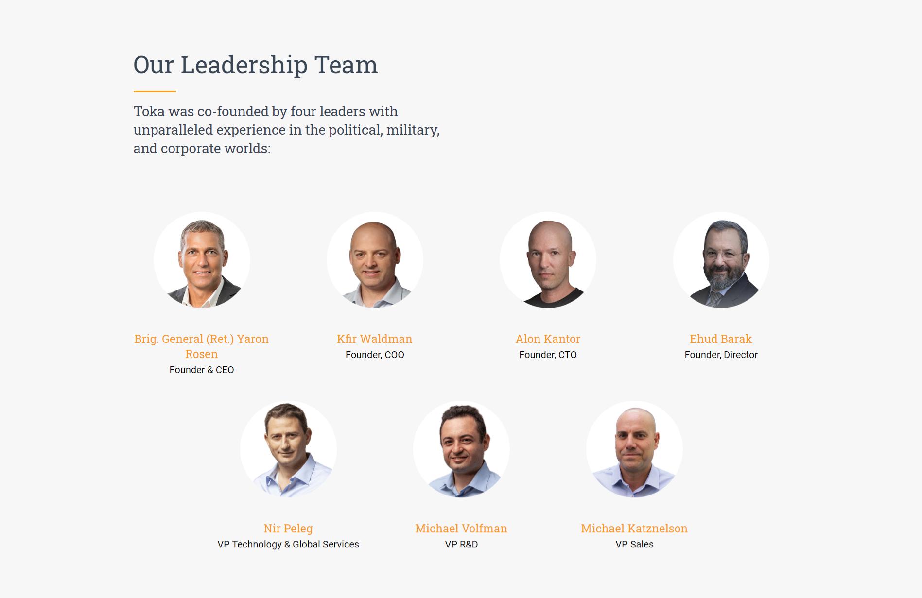 Toka Leadership team