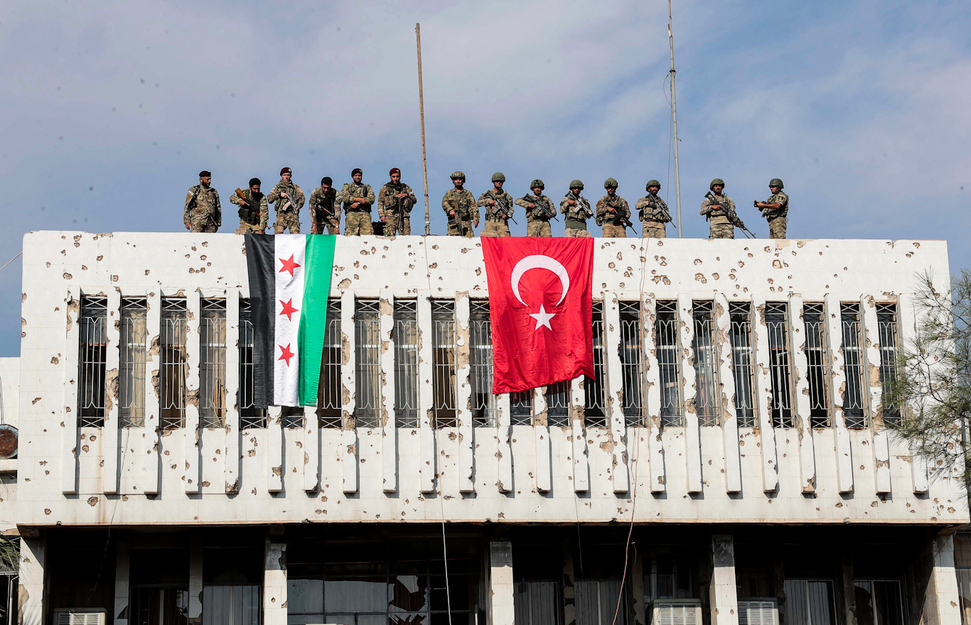 Turkish backed Syrian rebels