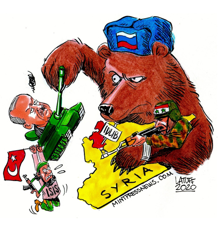 Russia Turkey Syria Idlib Cartoon