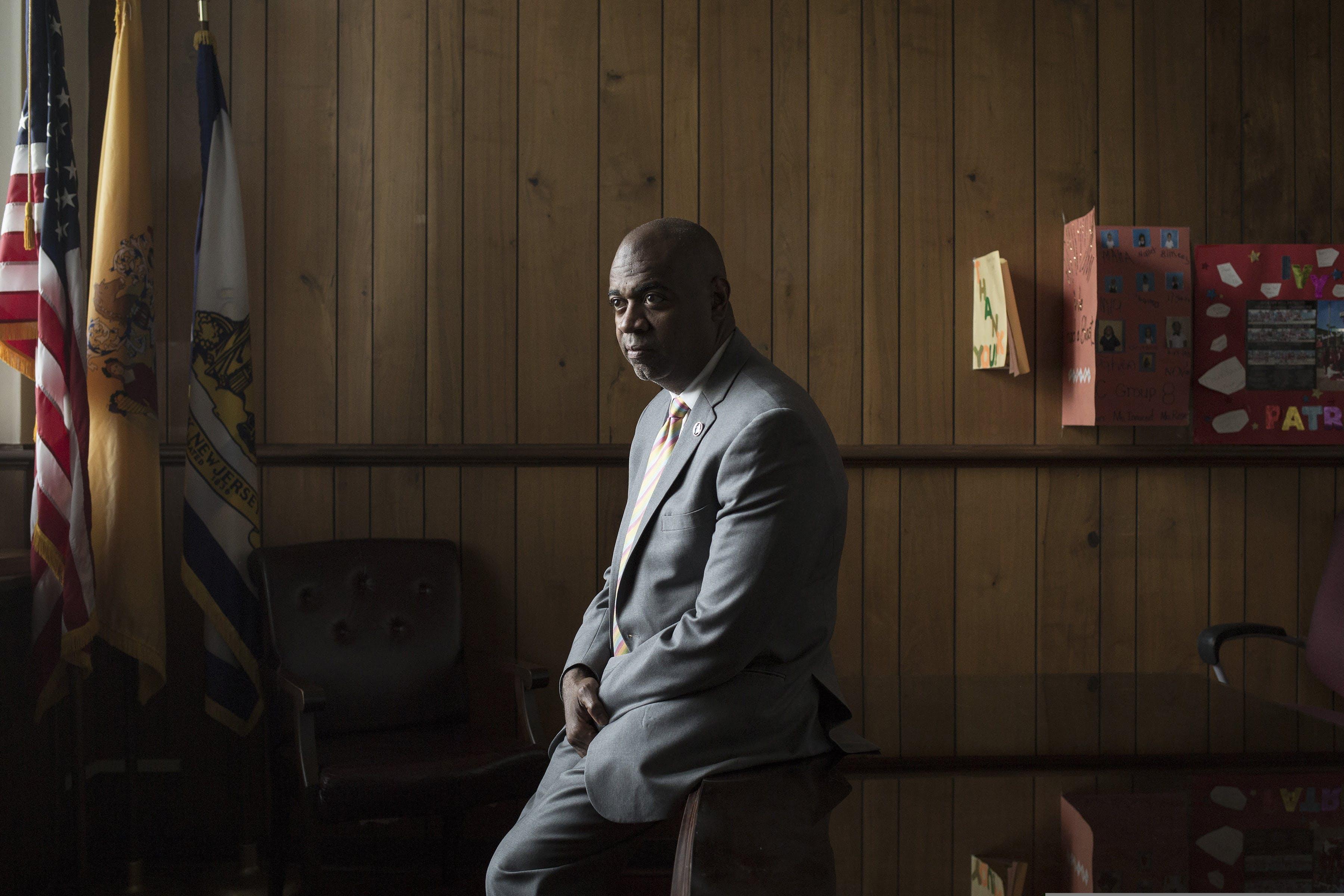 Mayor Ras Baraka in his office at City Hall in Newark, N.J., on May 4, 2018.