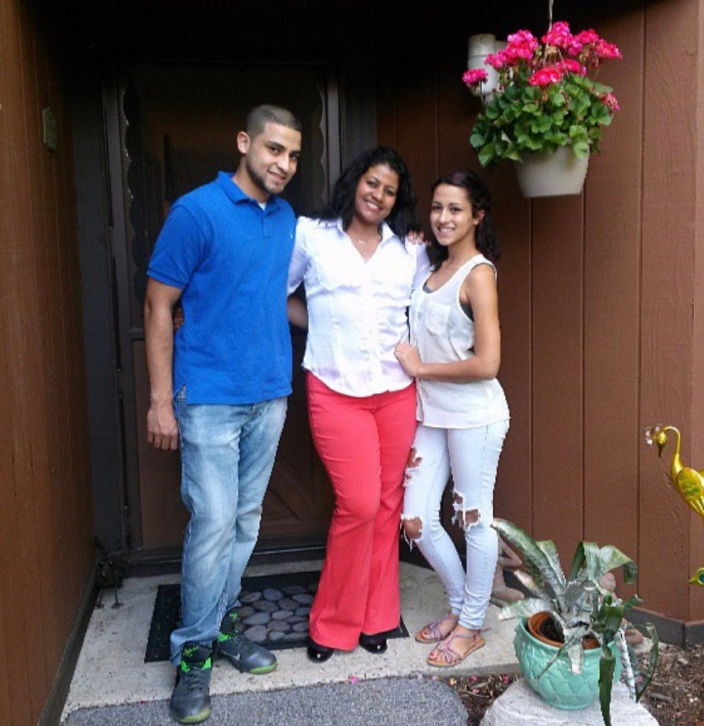 Andrew Ocasio, left, Sandy Guardiola, center, and Alysa Ocasio, right.