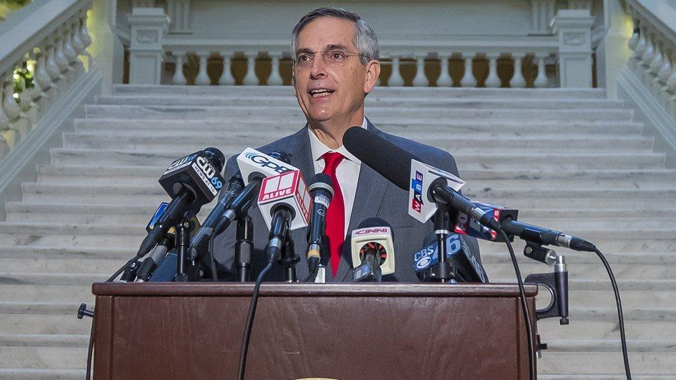 Georgia Secretary of State Brad Raffensperger on 7 Dec 2020