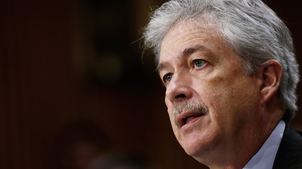 US Deputy Secretary of State William Burns testifies before the Senate Foreign Relations Committee 6 March 2014