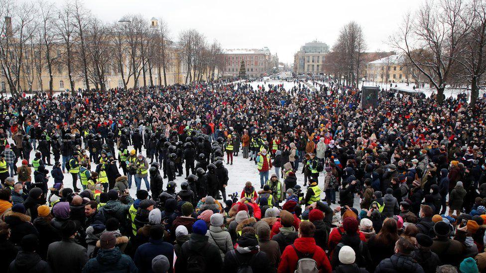 St Petersburg rally