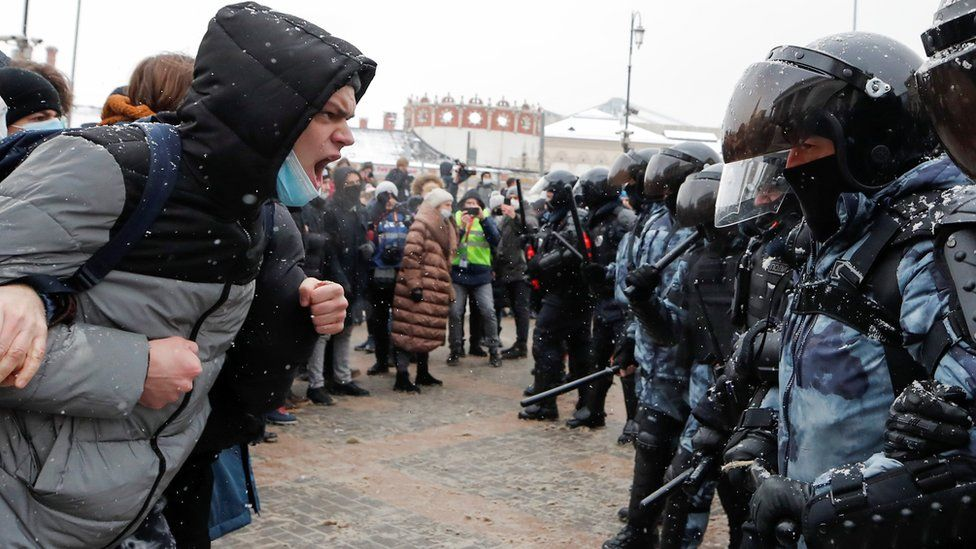 protest in Moscow