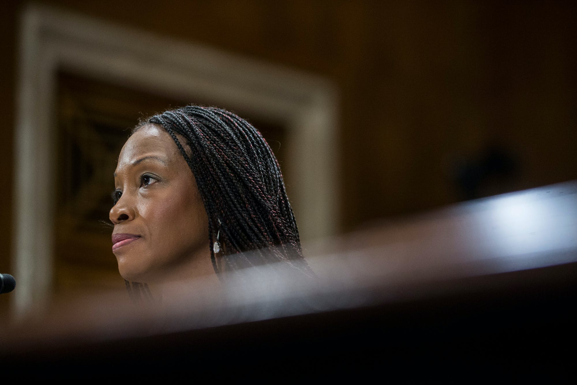 Nominee to be Director for the Fish and Wildlife Service Aurelia Skipwith testifies during a Senate Environment and Public Works Committee confirmation hearing on September 11, 2019 in Washington, DC.