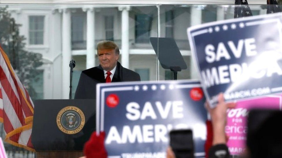 Donald Trump's address to supporters on 6 January