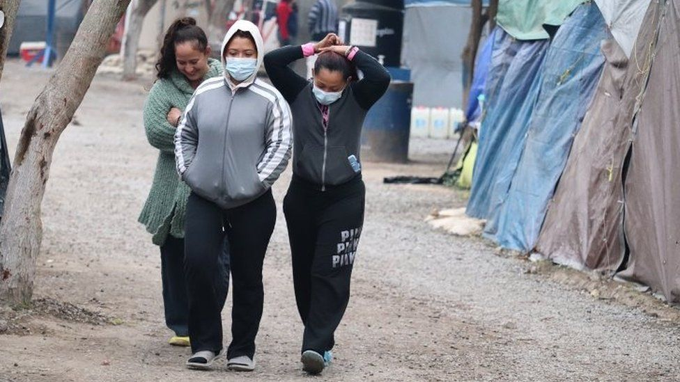 Asylum seekers stranded in the city of Matamoros, Mexico. Photo: 12 February 2021