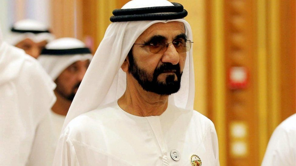 Sheikh Mohammed bin Rashid Al Maktoum at a conference in 2018