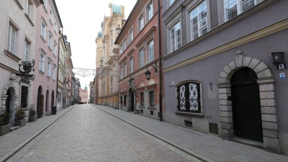 Old Town in Warsaw, Poland. Photo: 15 March 2021
