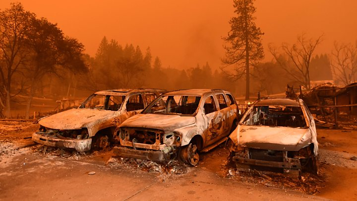 California fires: At least 42 die in state's deadliest wildfire